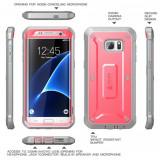 Husa Carcasa Galaxy S7 Edge CaseUBPro SUP Originala. Cu clips prindere., Samsung Galaxy S7 Edge, Albastru, Plastic