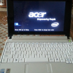 Acer aspire one - Laptop Acer, Diagonala ecran: 10, Intel Atom, 80 GB