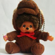 Monchhichi cu costum de ursulet Sekiguchi, maimutica jucarie plus 10 cm, breloc - Jucarii plus