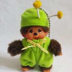 Monchhichi cu costum de omida, Sekiguchi, jucarie plus 9 cm, breloc - Jucarii plus