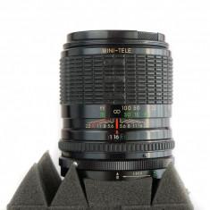 Obiectiv manual portret Sigma Mini Tele 135mm 3.5 montura Konica AR - Obiectiv mirrorless Sony, Sony E