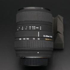 Obiectiv autofocus Sigma 55-200mm f4.5-5.6 DC Pentax K - Obiectiv DSLR Sigma, All around