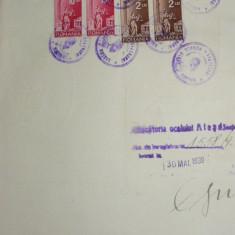 E7 COALA FISCALA 100 LEI VERDE 1939 - Timbre Romania, Stampilat