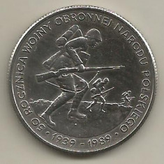 POLONIA   500   ZLOTI 1989  BEGINNING of WW II  [1]  XF+  ,   in  cartonas, Europa, Cupru-Nichel