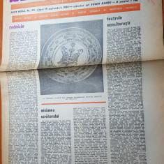 """Ziarul saptamana 19 septembrie 1980-art. """"rodnicie"""" de corneliu vadim tudor"""