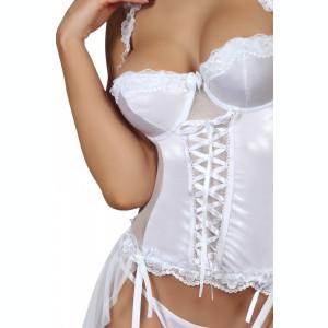 Corset Dorothy Beauty Night - Corset sexy cu portjartier si chilot string