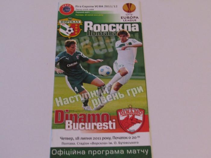 Program meci fotbal VORSKLA POLTAVA - DINAMO BUCURESTI (Europa League 2011)