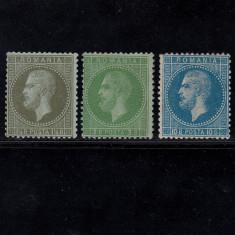 CAROL I PARIS 1872 - 1, 5 BANI, 3 BANI, 10 BANI NECIRCULATE - Timbre Romania, Nestampilat