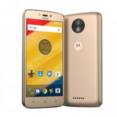 Smartphone Motorola Moto C, Dual Sim, 5 Inch, Quad Core, 1 GB RAM, 8 GB, Retea 4G, Android Nougat, Gold - Telefon Motorola