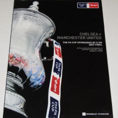 Program meci CHELSEA - MANCHESTER UNITED (Finala Cupei Angliei 19.05.2007)