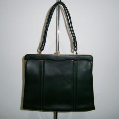 Poseta de dama eleganta, vintage, stare foarte buna!, Negru, Medie