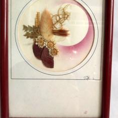 Tablou decor din carton cu plate presate, 19x14cm
