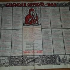Calendar crestin ortodox anul 1984-popaganda comunista pe marginea calendarului