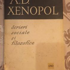 A. D. Xenopol, Scrieri sociale si filozofice, A.D. Xenopol