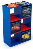 Organizator cu cadru din lemn pentru carti si jucarii Cars Cube, Delta Children