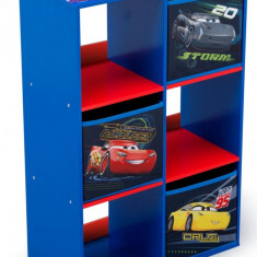 Organizator cu cadru din lemn pentru carti si jucarii Cars Cube - Set mobila copii