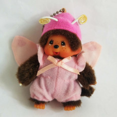 Monchhichi cu costum de fluturas, Sekiguchi, jucarie plus 9 cm, breloc - Jucarii plus