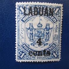 ANGLIA COLONII/LABUAN 1904=1$, Nestampilat