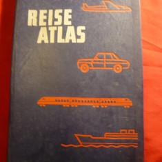 Reise Atlas -1980 -Ghid Auto Turistic DDR ,Cehoslovacia ,Polonia ,Romania