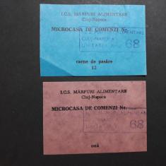 TICHET CARTELA ALIMENTE - CARNE SI OUA - MICROCASA DE COMENZI - ANII 1980