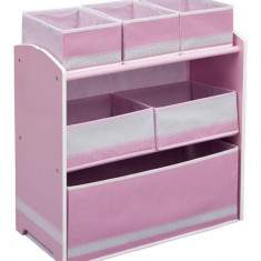 Organizator jucarii cu cadru din lemn Love Girl - Set mobila copii