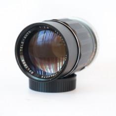 Obiectiv manual pentru portret Soligor 135mm 2.8 montura Olympus OM - Obiectiv DSLR Olympus, Tele, Manual focus