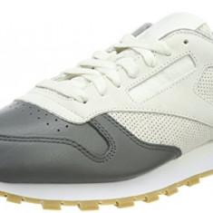 Adidasi Reebok Men's Classic Leather LS marimea 41 si 42 - Adidasi barbati Reebok, Culoare: Gri, Piele naturala