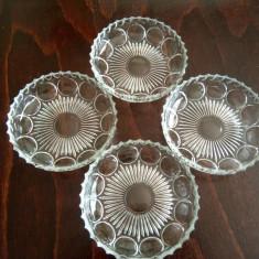 Set patru boluri de cristal sau semicristal marcaj Franta - Vesela sticla