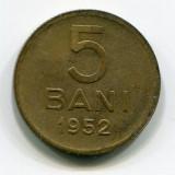 5 bani 1952, RPR; stare VF+