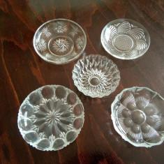 Set cinci bomboniere de cristal sau semicristal - Vesela sticla