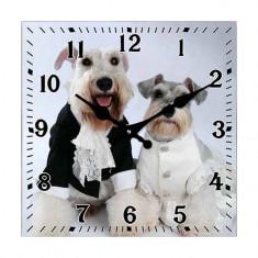 Ceas Sticla Dog Wedding 34cm,Cod Produs:2114