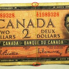 231 CANADA 2 DOLLARS 1954 SR. 328 - bancnota america
