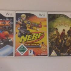 LOT 3 jocuri - NERF - Spiderwick - REX Agent - Nintendo Wii [Second hand] - Jocuri WII, Actiune, 3+, Multiplayer
