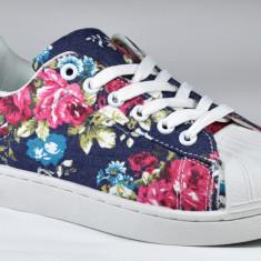 Adidasi de dama cu model floral flori 36 37 38 39 40 41 - Adidasi dama, Culoare: Din imagine, Textil