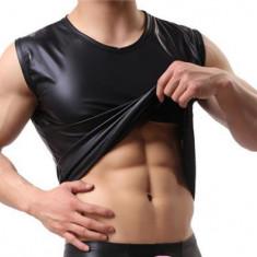 Maieu tip piele pentru barbati - sexy, fashion, fetish, BDSM - Maiou barbati, Marime: M, L, Culoare: Negru