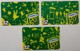 ROMANIA LOT / SET 3 x 12 $ cartele Connex - PENTRU COLECTIONARI **