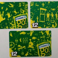 ROMANIA LOT / SET 3 x 12 $ cartele Connex - PENTRU COLECTIONARI ** - Cartela GSM