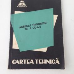 Agregat frigorific tip 4 CU-6,5/carte tehnica/1962