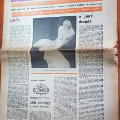 Ziarul saptamana 8 decembrie 1978-articol despre vasile lucaciu