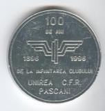 CAILE FERATE ROMANE -  100 de ani aniversare Club UNIREA CFR PASCANI  Medalie