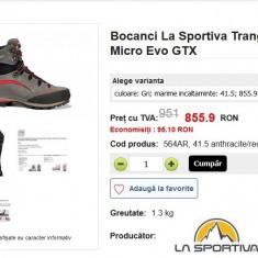 Bocanci La Sportiva Trango Trek Micro Evo GTX, 42 - Incaltaminte outdoor The North Face