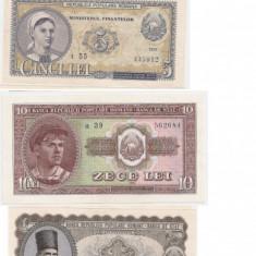 ROMANIA 1, 3, 5, 10, 25, 100 LEI 1952 AUNC, XF - Bancnota romaneasca