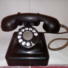 Telefon vechi vintage cu disc Bell 2712-A din 1936 cu catalog