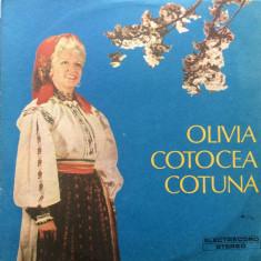 Olivia Cotocea Cotuna leagana se frunza n munte disc vinyl lp Muzica Populara electrecord, VINIL