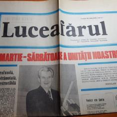 Ziarul luceafarul 9 martie 1980-campanie electorala pt ceausescu in ziar