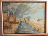 Peisaj de iarna, pictor olandez, Natura, Ulei, Altul