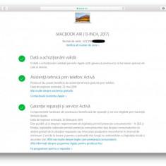 Macbook Air - februarie 2018 * i5 @1.8GHz * 8GB DDR3 @1600MHz * HD6000 - 1.5 GB - Laptop Macbook Air Apple, 13 inches, Intel Core i5, 120 GB