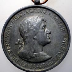 5.282 MEDALIE ROMANIA TRANSILVANIA BAIA MARE MATEI CORVIN 1940 35mm, Europa