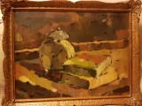 Vand tablou scoala baimareana semnat Nagy Oszkar, Natura statica, Ulei, Altul