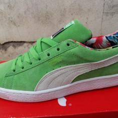Puma Suede Tropical - Nr. 42 - Import Anglia - Adidasi barbati Puma, Culoare: Verde, Piele intoarsa